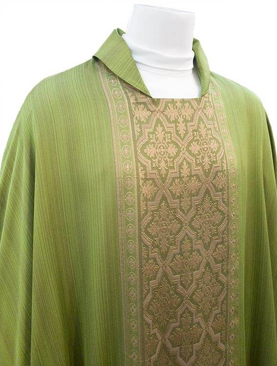 343 Green Damask Chasuble by Sorgente