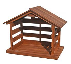 "36"" Large Scale Wood Stable  stable, nativity stable, wood stable, 27"" scale nativity, christmas stable, large scale stable, large stable, outdoor stable, wooden stable for outdoor, yard nativity stable, stable for yard nativity, outdoor stable, wooden yard stable, large size stable, large wooden stable"