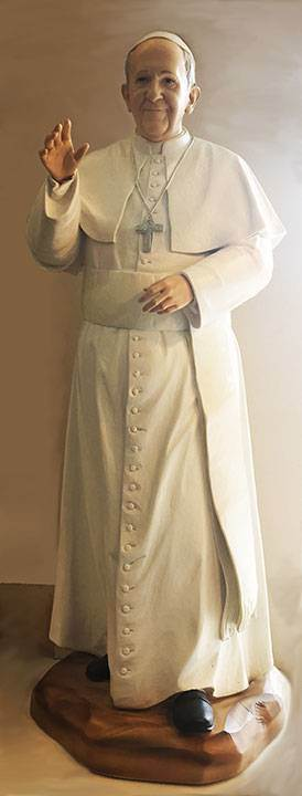 "36"" Resin Pope Francis Statue"