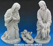 "36"" Scale Holy Family, Granite Finish holy family, 36"" scale, granite finish, outdoor, indoor, holiday holy family, seasonal, christmas decor, church decor, chursh statue, statue, figures,SA3650G"