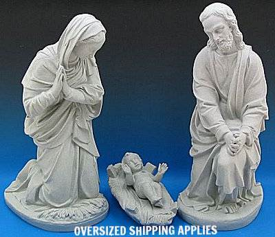 "36"" Scale Holy Family, Granite Finish *WHILE SUPPLIES LAST* - 51946"