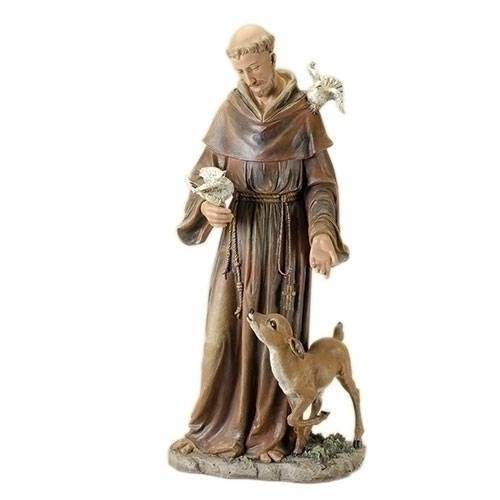 "36"" St Francis Statue Joseph'S Studio, Indoor Resin/Stone Mix, 36.5"" Tall"