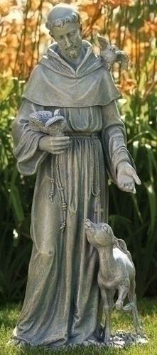 "36"" St. Francis with Deer Statue"