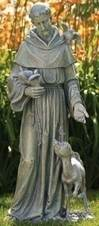 "St. Francis with Deer 36"" Statue"