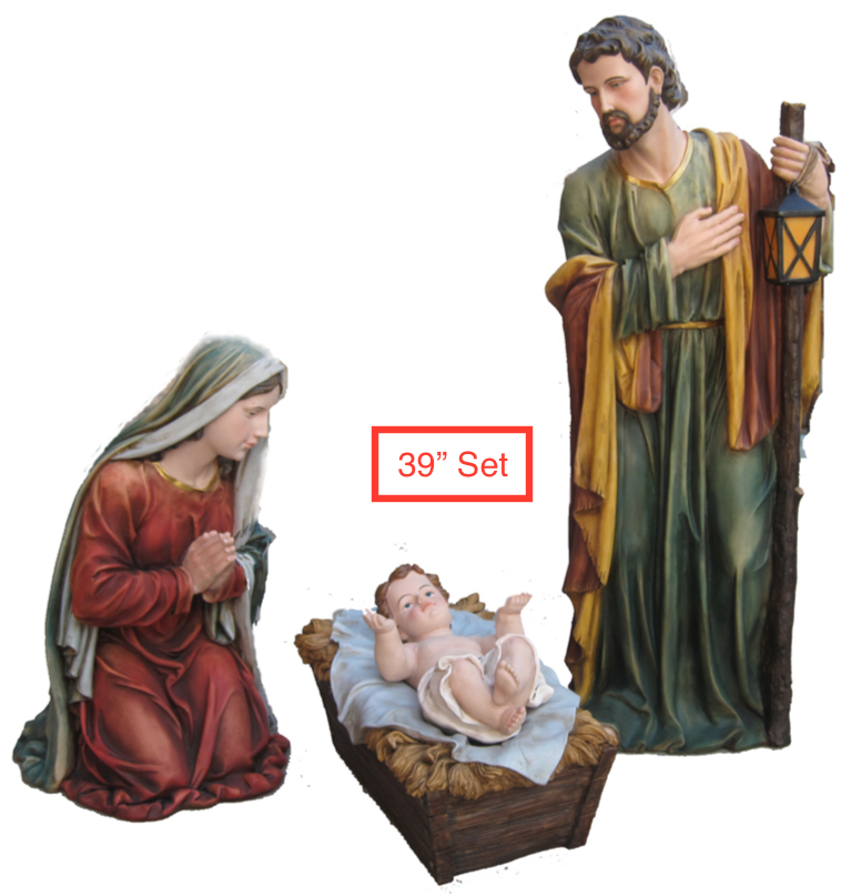 "39"" Scale Holy Famiy 3 Piece Set"