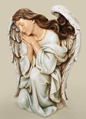 "39"" Scale Kneeling Angel Statue"