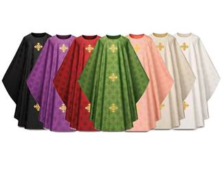 3978 Gothic Chasuble in Adornes Fabric
