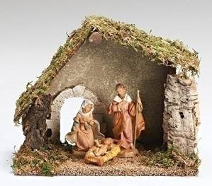 Fontanini 3 Piece Nativity Starter Set with Stable