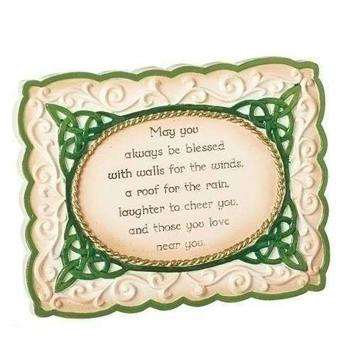 "4.25"" Irish Plaque with Blessing"