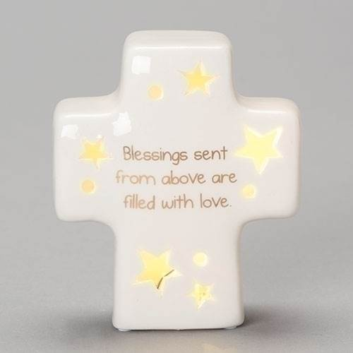 "4.25"" LED Sweet Dreams Cross Nightlight"