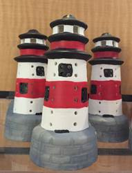"4.5"" Battery Operated Ceramic Lighthouse"