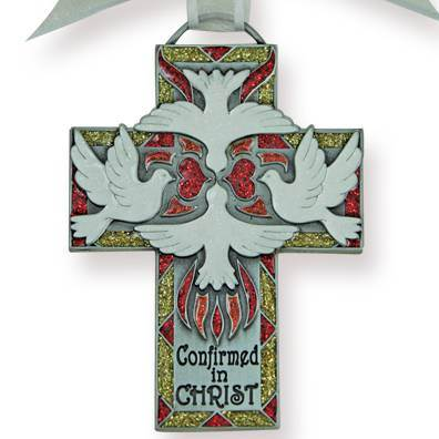 "4.5"" Hand Painted Metal Confirmed in Christ Cross"