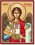 "4.5"" x 6"" St. Michael (Military) Icon"