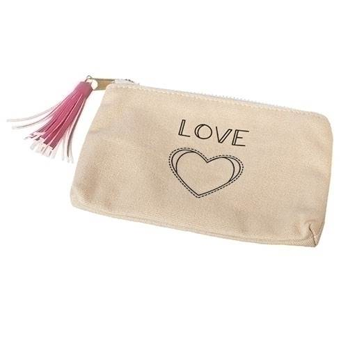 "4"" Love Canvas Bag"