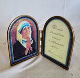 "4"" Mother Teresa Desk Plaque 