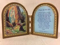 "4"" Our Lady Of Lourdes Prayer for the Sick Standing Plaque 