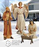 4 Piece Holy Family and Angel Nativity Figure Stakes