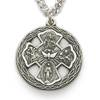 "4 Way Sterling Silver Medal on 24"" Chain"