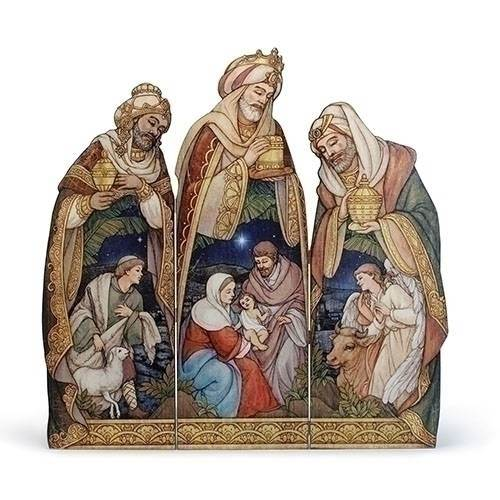 Holy Family Tri Panal Plaque