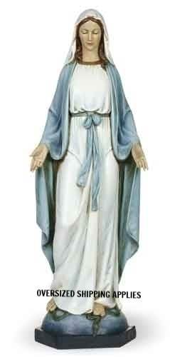 "40"" Our Lady of Grace Statue our lady of grace, mary statue, outdoor statue, indoor statue, church statue, blessed mother statue, josephs studio collection, 62419"