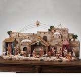 "41"" wide Nativity Village Stable for 5"" Scale Figures"