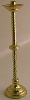 "42"" Candlestick Polished Brass Chold-4B 2"" Socket"