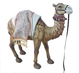 "Heavens Majesty Standing Camel, 42"" Tall (for 39"" Scale Nativity Figures) 42"" Standing Camel, large camel, outdoor nativity set, Fiberglass, Resin, 53398, 39"" nativity set figures,"