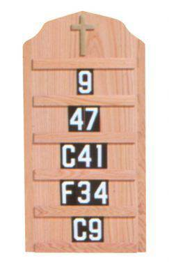 4296T Hymn Board Wall Mount