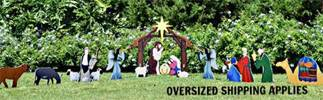 "50"" Marine Grade Complete Outdoor Nativity Silhouette"