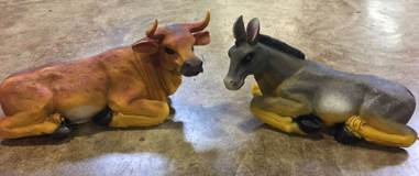 "43"" Scale Ox and Donkey Set"