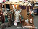 49-1/2 Inch Wood Stable **FREE SHIPPING**  large wood stable, large outdoor stable, large wooden stable, outdoor wooden stable, large scale stable, nativity scale, large stable for nativity, nativity stable, large nativity stable, larger nativity stable, nativity stable wooden