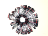 Pom Pom Scrunchie, Plaid #49