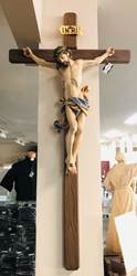 "49"" Wood Carved Crucifix with 24"" Corpus from Italy"