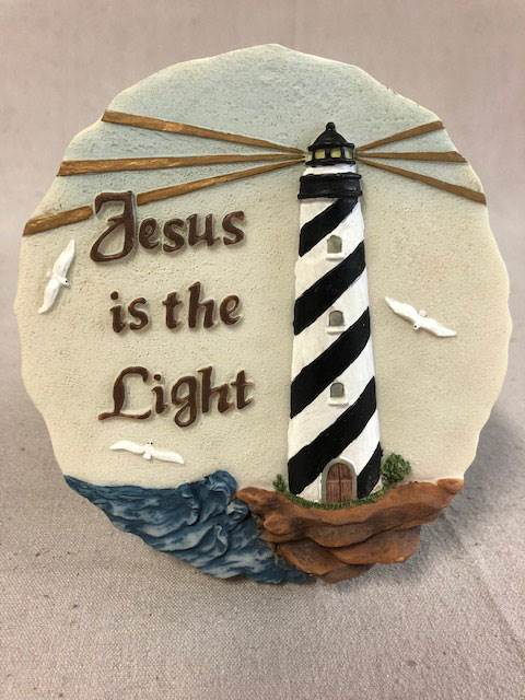 "5.25"" Jesus Is The Light Wall Plaque 