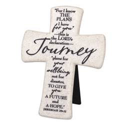 "5.75"" Journey Standing Cross ""I Know the Plans"""