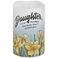 "5"" Daughter Flicker LED Candle"