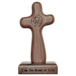 "5"" Eucharist Hand Cross with Magnetic Base"