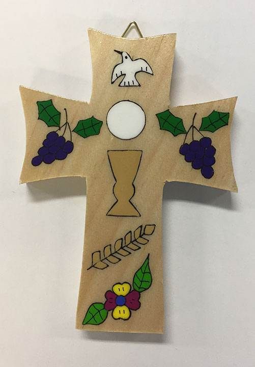 "5"" First Communion Wood Wall Cross from El Salvador"