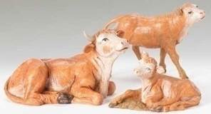 "5"" Fontanini Ox Family Figures"