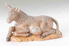 "5"" Fontanini Seated Donkey Figure"