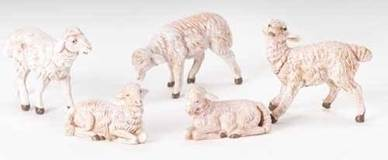 "5"" Fontanini White Sheep Figures"