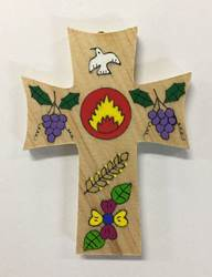 "5"" Holy Spirit Wood Wall Cross from El Salvador"