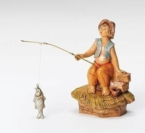 "5"" Jada, Boy Fishing Fontanini Figurine"