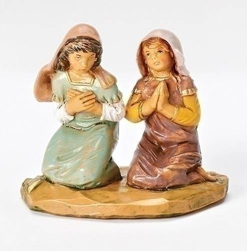 "5"" Junia & Eve, Praying Girls Fontanini Figurine"