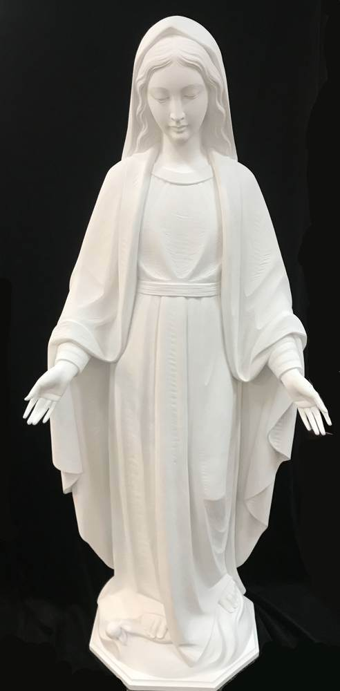 5 Our Lady of Grace Statue our lady of grace, grace statue, church statue, church figure, large state, 5 staue, fiberglass, white marble finish, 640/57 60WHTFBR