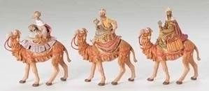 "5"" Scale Fontanini Kings on Camels Figures"