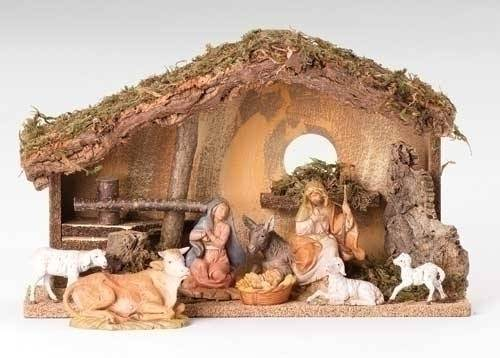 Fontanini 8 Piece Nativity Set with Stable
