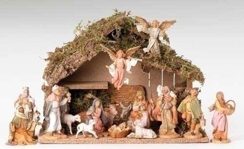 Fontanini 17 Piece Nativity Set with Stable