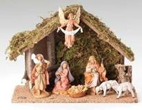 Fontanini 7 Piece Nativity Set with Stable