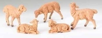 "5"" Scale Fontanini Sheep Set Figures"